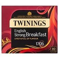 トワイニング ストロング イングリッシュ ブレックファスト ティーバッグ80個入り(英国製)/ STRONG ENGLISH BREAKFAST - 80 TEA BAGS [並行輸入品]