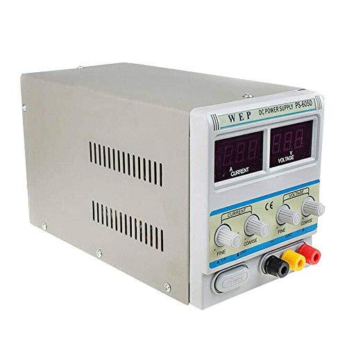 Relaxbx 60 V 5 A Fuente de alimentación de Laboratorio Transformador de CC Fuente de alimentación Ajustable Pantalla LED Dual