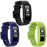 Watbro Compatible with Fitbit Ace 2 Bands for Kids 6+, Soft Silicone Bracelet Accessories Watch Band Repalcement Strap, Colorful Sport Wristbands for Fitbit Ace 2 for Boys Girls