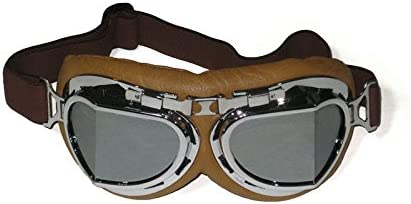 Steampunk Accessories | Goggles, Gears, Glasses, Guns, Mask CRG Sports Vintage Aviator Pilot Style Motorcycle Cruiser Scooter Goggle T08 - Parent  AT vintagedancer.com
