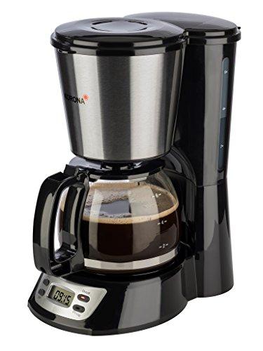 Korona 12113 Edelstahl | Kaffeemaschine mit Timer Funktion | Filter Kaffeeautomat für 6 Tassen | mit Glaskanne