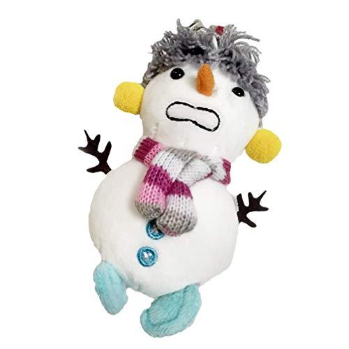 PRETYZOOM - Llavero de Navidad con muñeco de nieve Mopa con muñeco de nieve. 15X6 cm