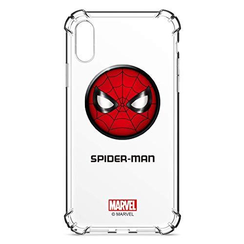 Marvel Avengers - Funda Transparente para iPhone 7 y iPhone 8 de 4,7 Pulgadas, absorción de Golpes, Spider-Man, Clear