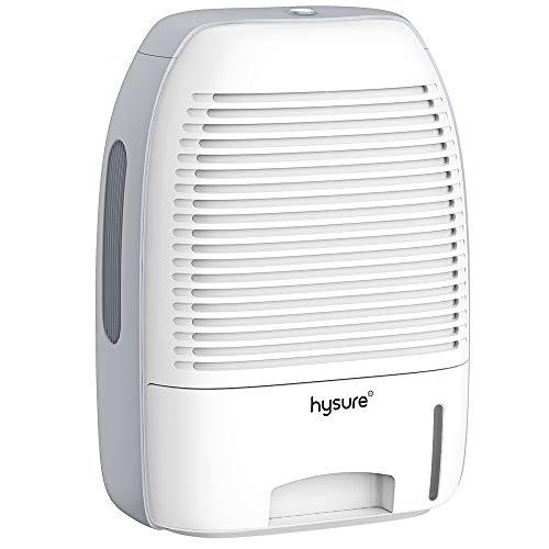 hysure 1500ml Electric Dehumidifier, Portable Small Electric Dehumidifiers, Safe Dehumidifier with Auto Shut Off for Home, basements, Bedroom, Bathroom, Garage, Wardrobe, RV (White)