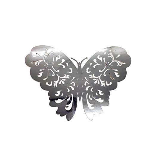 BLOUR 12 unids/Set 3D Indigo Hueco Mariposa Pegatina de Pared decoración Sala de Estar Ventana decoración del hogar Boda Mariposas calcomanías Pegatinas