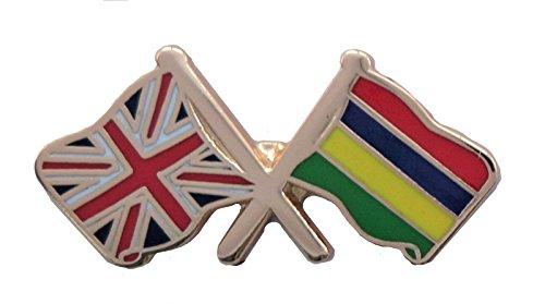 1000 drapeaux Maurice et drapeau du Royaume-Uni