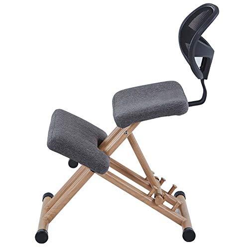 Sedia ergonomica in ginocchio professionale for ufficio Sedia semplice a prova di gobbo comodi (Colore : Grey)