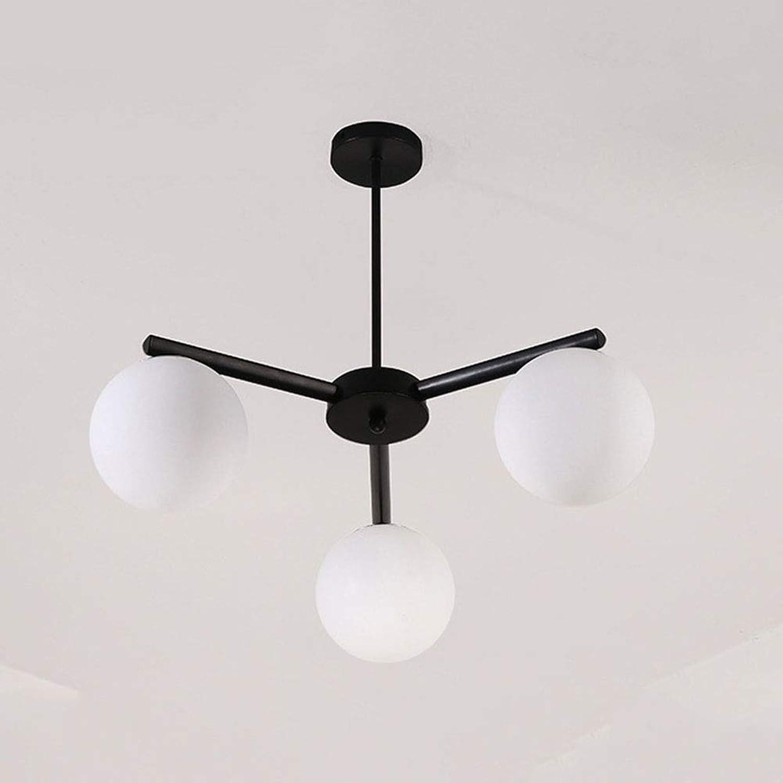 SXFYWYM Kronleuchter LED Kreative Einfache Pendelleuchte Modern für Wohnzimmer Schlafzimmer Hotel Beleuchtung,3heads,64x50cm