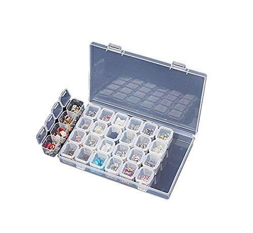 lzn 28 Abnehmbar Perlen Box, Perlenbox Sortierbox Sortierkasten, Plastik Aufbewahrungsbox, Schmuckschatulle Werkzeugcontainer