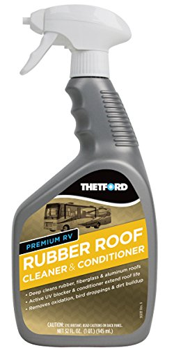Thetford 32512 Premium RV Rubber Roof Cleaner and Conditioner-32, 32 fl. oz