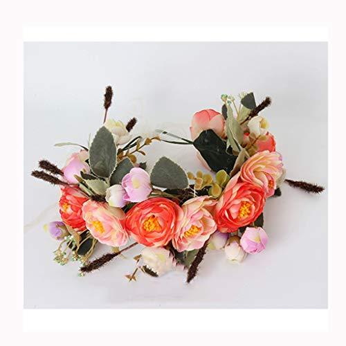 LYM Couronne de Fleurs Couronne Corolla Bandeau Festival de Mariage Accessoires de Cheveux (Couleur : A)