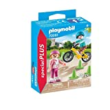 PLAYMOBIL- Special Plus Especial Niños Bici y Patines, Color carbón (70061)