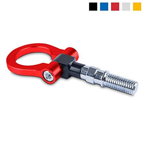Abschleppöse Abschlepphaken aus eloxiertem Aluminium - Gewindemaße: M18, Farbe: Rot - Tow Hook für Rennsport