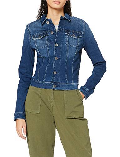 Tommy Jeans Damen VIVIANNE SLIM TRUCKER NNMBS Jacke, New Niceville Mid Blue Stretch, L