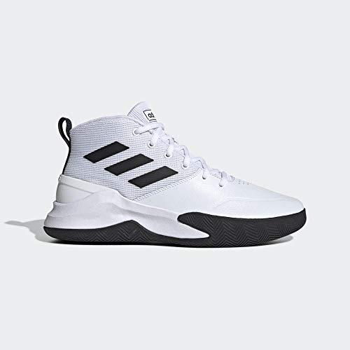 adidas Herren Ownthegame Basketballschuhe, Weiß (Ftwbla/Negbás/Ftwbla 000), 48 EU
