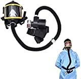 SHENXX Maschera Antigas, Respirazione Elettrica per Respiratore Riutilizzabile A Pieno Facciale per Particelle, Gas E Vapori