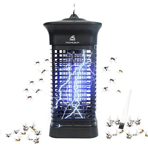 Homesuit Bug Zapper 15W for Outdoor & Indoor - Effective 4000V Electric Mosquito Zappers/Killer - Insect Fly Trap, Waterproof Outdoor - Electronic Light Bulb Lamp for Home/Office/Backyard/Patio