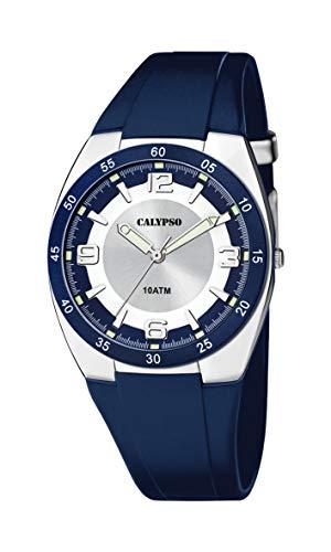 Calypso Herren Analog Quarz Uhr mit Plastik Armband K5753/2