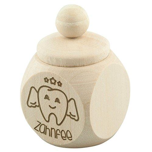 Tanddoos mini tandfee tand melktand houten doos doos doos geschenk decoratie esdoorn natuur met individuele gravure gewenste naam 30 x 50 x 30 mm