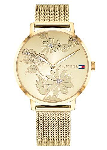 Tommy Hilfiger Unisex Analog Quarz Uhr mit Edelstahl Armband 1781921