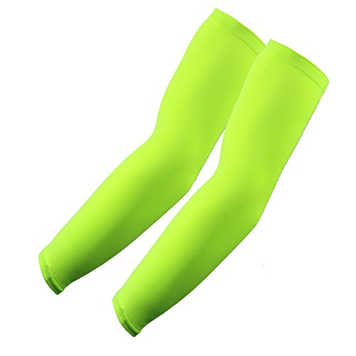 Elixir Golf Sports 1 Pair Arm Sleeves, Neon Green, One Size
