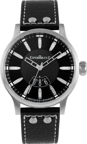 Jacques Lemans Unisex-Armbanduhr The Expendables 2 Analog Quarz Leder E-222