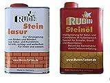 Rubin Steinöl + Rubin Steinlasur 1 Liter