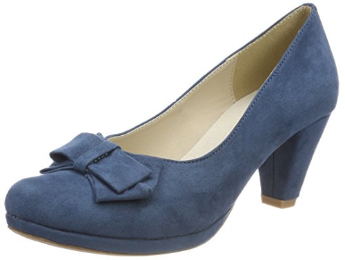 Andrea Conti Damen 1005718 Pumps, Blau (Jeans), 37 EU
