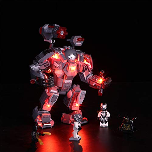 WEEGO Juego de iluminación LED para Lego Marvel Super Heroes War Machine, lámpara USB, compatible con modelo Lego 76124 (sin set Lego)