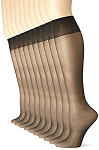 Knee high Sheer toe 8 pairs per pack