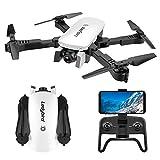 YWT Drone GPS Drone Pliable avec caméra 4K HD Quadricoptère vidéo en Direct RC me...