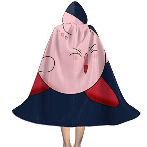 KUKHKU Unisex Kinder Kapuzenumhang Dragon Ball Z Kirby Buu Mix Halloween Party Dekoration Rolle Cosplay Kostüm Outwear