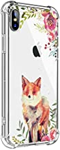 MAYCARI for iPhone 7 Plus/iPhone 8 Plus Case Fox, Clear TPU Phone Cases with Design, Soft Flexiable Slim Protective 8 Cases, Anti-Scratch Shock Absorbing