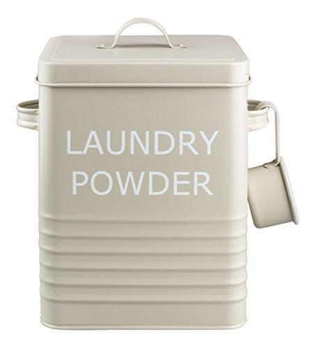 Home Sweet Home - Vintage Retro Stil Waschpulver Metalldose Oliv Farbe - Ideal zur Lagerung von Waschpulver Oder Tabletten