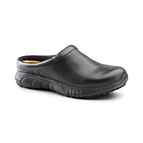 Keuka SureGrip Women's Patron Black Slip Resistant Work Clogs 8.5M