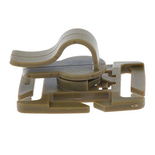 SM SunniMix Montage en Plastique Rotatif D'agrafe De Tuyau De Pince De Tube De 360 ° pour Le Sac à D'hydratation - Brun, 3.9x3.2x2cm