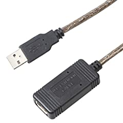 USB2.0 extend cable can extend USB connections by 20 meters (65 feet) between your computer and USB devices thereby giving you the added ability to move away from your desktop while using your VoIP phone or mouse. In line with the USB 2.0 standard, 4...