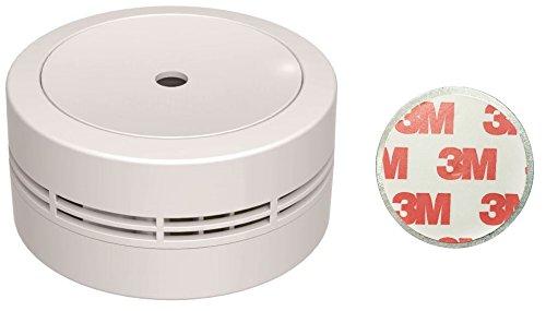 Jeising Mini Rauchmelder GS535 weiß mit Magnetklebebepad Magnetbefestigung 10 Jahres Lithium Batterie - VDs geprüft EN14604 Komfort Funktionsprüfung mit Stummschaltung