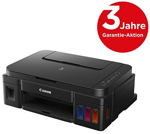 Canon PIXMA G3501 MegaTank Drucker nachfüllbares Tintenstrahl Multifunktionsgerät DIN A4 (Scanner,Kopierer, 4.800x1.200 dpi, WLAN,USB, gr. Tanks, geringe Kosten/Seite) schwarz