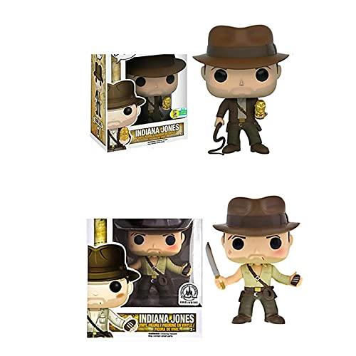 2 Piezas Película Indiana Jones 199 # 200 # Figuras De Acción Juguete De Modelos Coleccionables para Niños