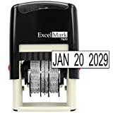 ExcelMark 7820 Self-Inking Rubber Date Stamp – Great for Shipping, Receiving, Expiration and Due Dates (Black Ink)