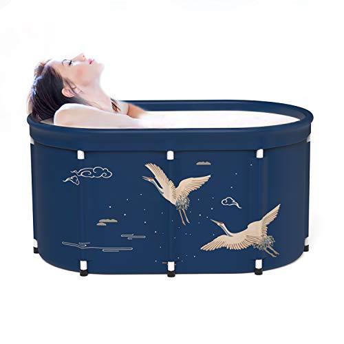 Portable Foldable Bathtub, Separate Family Bathroom SPA Tub, Eco-Friendly Bathing Tub for Shower Stall , Efficient Maintenance of Temperature, Ideal for Spa Hot bath,41.3''x25.5''x22.8''(Crane)