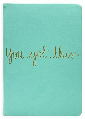 Eccolo Dayna Lee Collection Mint'You Got This' 8x6' Flexi-cover Journal/Notebook, Acid-free Lined Sheets