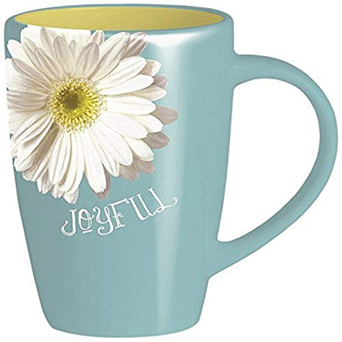 Divinity Boutique Sunshine Blue Daisy Mug, Multicolor