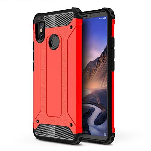 JIXIAO Estuche móvil Magic Armor TPU + PC Combination Case For xiaomi Mi MAX 3 (Negro) (Color : Red)