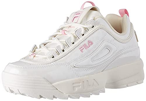 FILA Disruptor F kids Sneaker Unisex - Bambini, Bianco (White/Polkadot), 35 EU