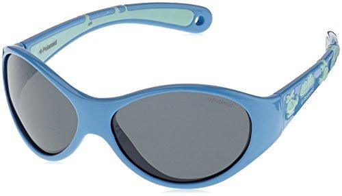 Polaroid Polaroid Unisex-Kinder P0401 Y2 4Ey 47 Sonnenbrille, Blau (Blute Green/Grey)