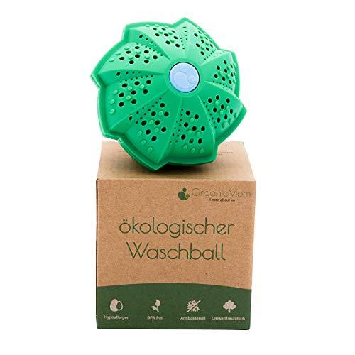 OrganicMom® EcoPalla Lavatrice 2.0 per 1000 lavaggi/lavaggio sostenibile senza detersivo/SFERA per LAVATRICE/Idea per neonati e allergie/BPA Free/Vegan pallina per lavatrice