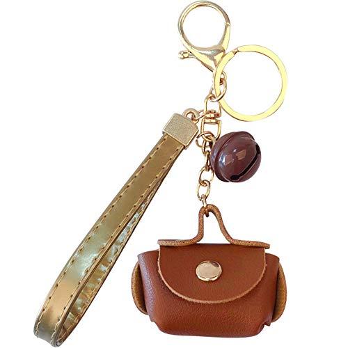 N/A Tas Auto Sleutelhanger Mannen En Vrouwen Sleutelhanger Handtas Hanger Lange Lederen Touw Gouden Ketting Tas Sieraden Voor Beste Gift