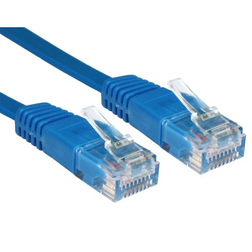 Flach Blau Ethernet Netzwerk LAN Patchkabel Kabel Lsoh Lszh Verluste Rauch 1 m [1 Meter/1m]